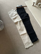 X2 Mens Skinny Chinos Trousers 30 W 32 L