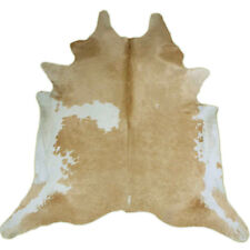 Elegant brown and white Rodeo Cowhide Rug Giant Size approx 8x8