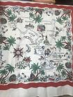 %C2%A0+Vintage+Florida+Tablecloth+50s-60s+36%22x36%22%E2%80%9D%C2%A0+White%2C+Red+Green%C2%A0
