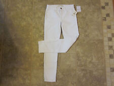 Joes Jeans Bonnie 25x28 Misses Low Rise Straight White Ankle Jeans NWT NICE