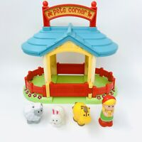 ELC Happyland Pets Corner Zoo Animals and Figure Pretend Play Free P&P