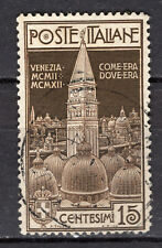 Italien 1912  Mi.Nr. 106   Einweihung Campanile der Markuskirche   gestempelt o