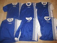 Lot / Jeu 6 maillot ADIDAS vintage bleu football shirt trikot maglia camiseta XL