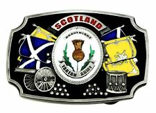 Scotland Belt Buckle Braveheart Tartan Army Thistle Scottish Flag Patriotic