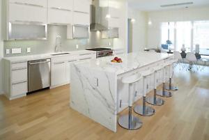 Silestone quartz calacatta gold marble kitchen worktops fitted nationwide luxury
