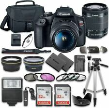 Canon EOS Rebel T7 DSLR Camera Bundle with Canon EF-S 18-55mm f/3.5-5.6 is II Le