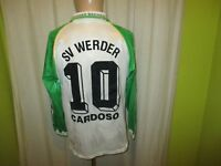 "Werder Bremen Puma Langarm Heim Trikot 1995/96 ""DBV"" + Nr.10 Cardoso Gr.S- M"