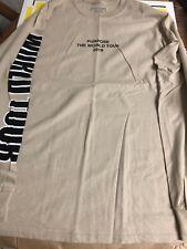 Justin Bieber long sleeve Purpose Concert Tour shirt Sz Medium Beige New