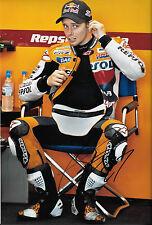 Casey Stoner SIGNED 12x8, Repsol-Honda Helmet Portrait 2012