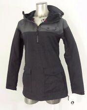 Volcom 2018 Ship Pullover women's water-proof snowboard jacket gray/black S new