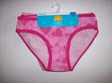 C&C Underwear Underpants Girls Select Sz XS S M L XL 5pk Bikinis Hearts NIP