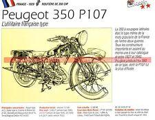 PEUGEOT 350 P107 ( P 107 ) 1929 Fiche Moto 000227