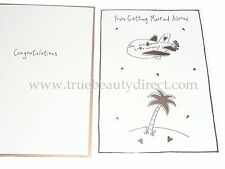JOBLOT PACK OF 5 CARDS CCA GETTING MARRIED ABROAD CONGRATULATIONS WEDDING CARD