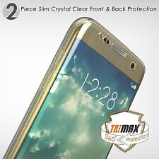 For Galaxy S6 Edge Plus Tri Max 360 Full Body 360 Wrap Protective Clear Case