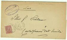 2054-EMILIA ROMAGNA, BORGO PANIGALE,COLLETTORIA OTTAGONALE PER CASTELFRANCO,1897