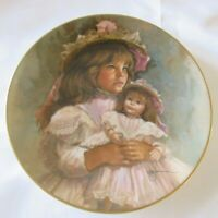 Vintage Gorham China RAMONA AND RACHEL Antique Doll Collectible Porcelain Plate