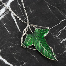 Lord of the Rings Leaf Elf Necklace Brooch Pin & Chain Elven LOTR UK Seller
