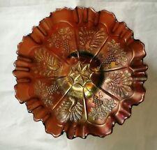 Fenton Carnival Glass Dish With Peacock & Grape Design 1908 -20