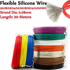 30/28/26/24/22/20/18/16/14/12/10 awg Flexible Stranded Silicone Cables Wire 20M