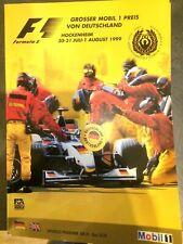 Formel 1 Hockenheimring Offizielles Programm Heft 1999