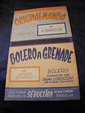 Partition Originale Mambo Rawson Bolero ha Grenade Enro 1957 Music Sheet