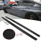 For 14-18 BMW F80 M3 Performance Style Side Skirts Panel Extension Carbon Color