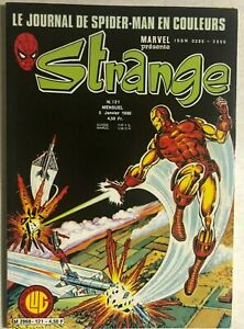STRANGE #121 French color Marvel comic (1980) Iron Man Spider-Man DD Jack VG+