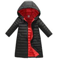 Kinder Jungen Mädchen Warme Jacke Hoodie Kapuze Winter Daunenjacke Mantel