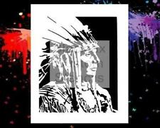 Indian Chief  Airbrush Stencil,Template
