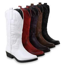 Damen Cowboystiefel Stickereien Western Stiefel Cowboy Boots 825644 Schuhe