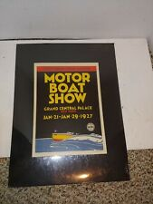 Vintage 1927 Motor Boat Show Grand Central Palace,New York,Color Promo Poster