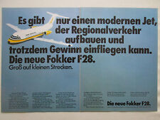 5/1980 PUB FOKKER AIRCRAFT F28 AIRLINER AIR ANGLIA AIRLINE ORIGINAL GERMAN AD