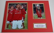 Teddy Sheringham SIGNED autograph 16x12 photo display Manchester United AFTAL