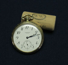WALTHAM 1908 23J RIVERSIDE MAXIMUS COLONIAL POCKET WATCH - 10K B&B CASE