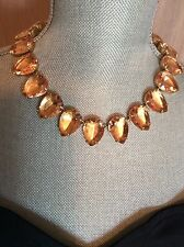 NWOT J Crew Rhinestone Necklace Chunky Jeweled Spring Designer Statement Collar