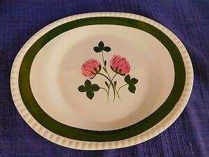 """Blue Ridge Southern Sweet Clover 12"""" OVAL PLATTER have more items pink & green"""