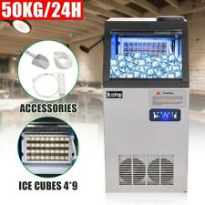 Stainless Steel Commercial Built In Ice Maker 110lb 50kg Bar Restaurant Freezer