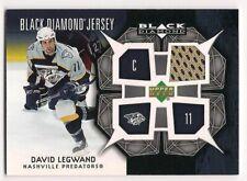 David Legwand 07-08 Upper Deck Black Diamond Jersey Game Worn Jersey