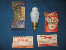 VTG Mid-Century CHAMP INSECT BULB in Original Packaging...NEVER USED!