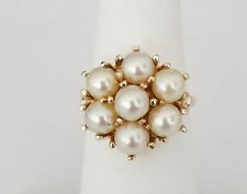 Japanese Akoya Pearl Round Shape 5mm 14K Yellow Gold Ring