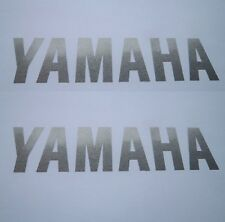 Yamaha GENUINE Fairing + Tank + Fork SILVER Stickers 100mm x 25mm *UK STOCK*