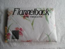 "Table Linens & Textiles Flannelback Vinyl 52"" X 90"" Tablecloth New in Bag"