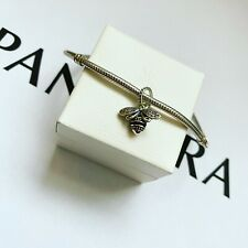 Pandora Silver Sparkling Queen Bee Pendant Charm (ALE S925)