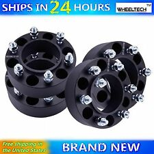 4 Pcs 6x5.5 Black fit Toyota 96-16 4Runner Hub Centirc 2 inch Wheel Spacers