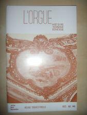 Musique: L'ORGUE Revue N°143, 1972: Révolution, Eglise luthérienne, Nîmes, Aix.