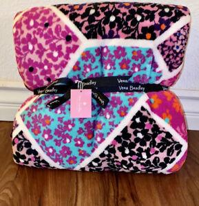 Vera Bradley Throw Blanket MODERN MEDLEY PINK Breast Cancer Awareness NWT HTF