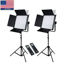 2 x Godox LED1000C 3300-5600 Video Studio Photography Light Stand Kit f Wedding