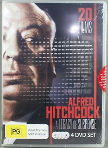 ALFRED HITCHCOCK - A LEGACY OF SUSPENSE (20 FILMS) (2012: DVD, 4 DISC SET) NEW