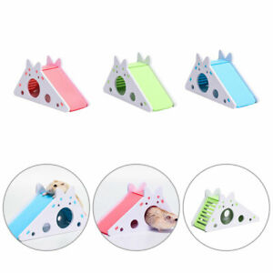 Pet Hamster Wooden Slide Stairs House Nest Toy Small Animals Villa Bedding Cage