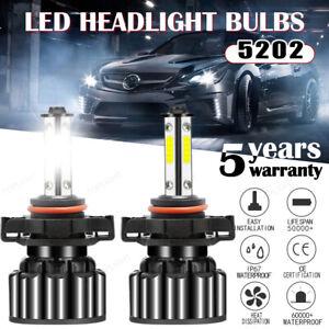 5202 LED Fog Light Lamp Bulbs for GMC Sierra 1500 2500 3500 HD 2008-2016 6000K
